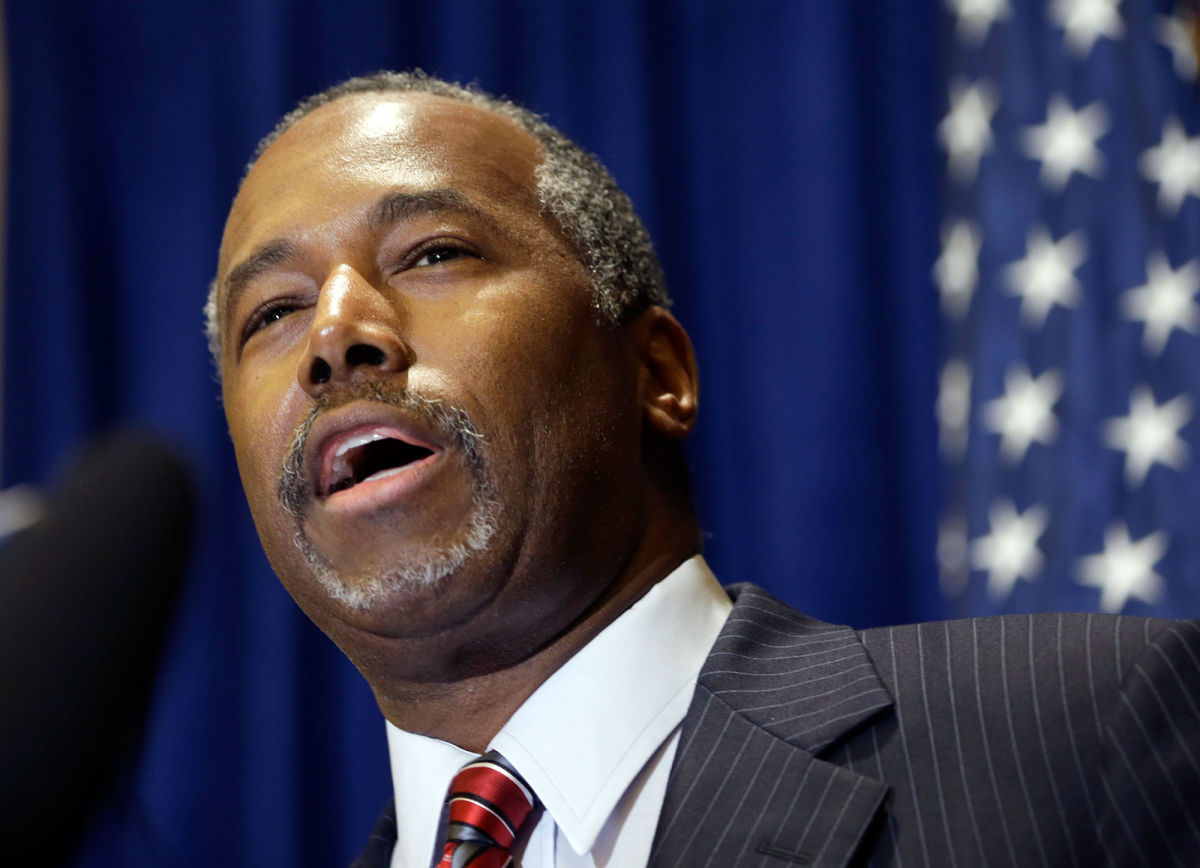 Ben carson refers to slaves as immigrants for The carson
