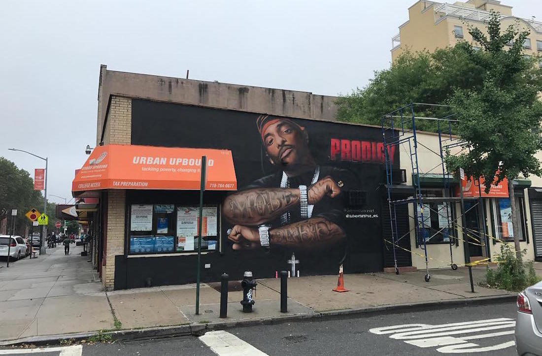 Prodigy memorial taken down after being vandalized a 2nd for Nas mural queensbridge