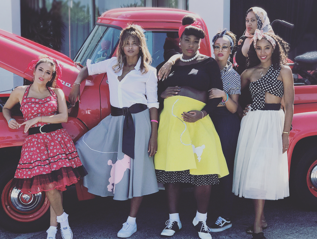 Serena Williams Throws 50s Themed Baby Shower Defendernetwork Com