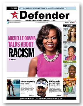 Defender Cover Aug. 3 Michelle Obama
