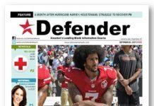 Defender #TakeAKnee