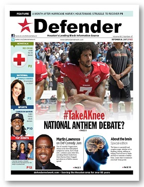 Defender #TakeAKnee