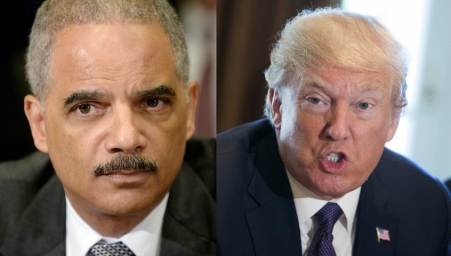 Image result for Trump vs Eric Holder