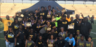 Fort Bend Marshall HS boys and girls track and field squads