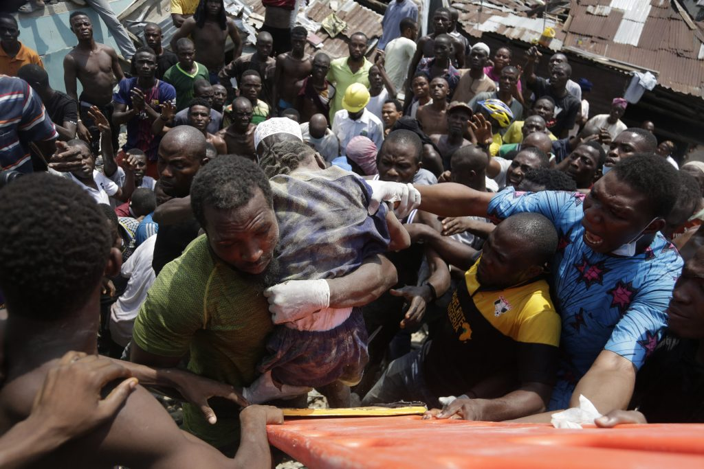 Dozens trapped in Nigeria school collapse, at least 8 dead