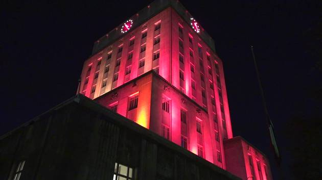 Houston City Hall lights up pink in honor of Maleah Davis