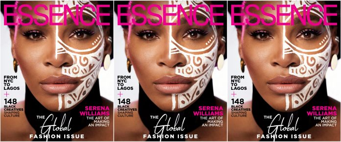 Serena Williams poses for Essence Global edition.