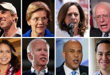 Democratic candidates black Trump