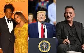 Donald Trump belittles Beyoncé, Jay-Z, Bruce Springsteen, invokes fans' fury