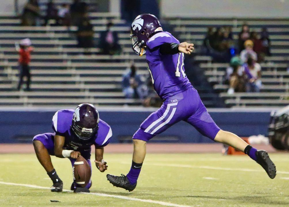 Wheatley kicker Jose Galarcza has a leg