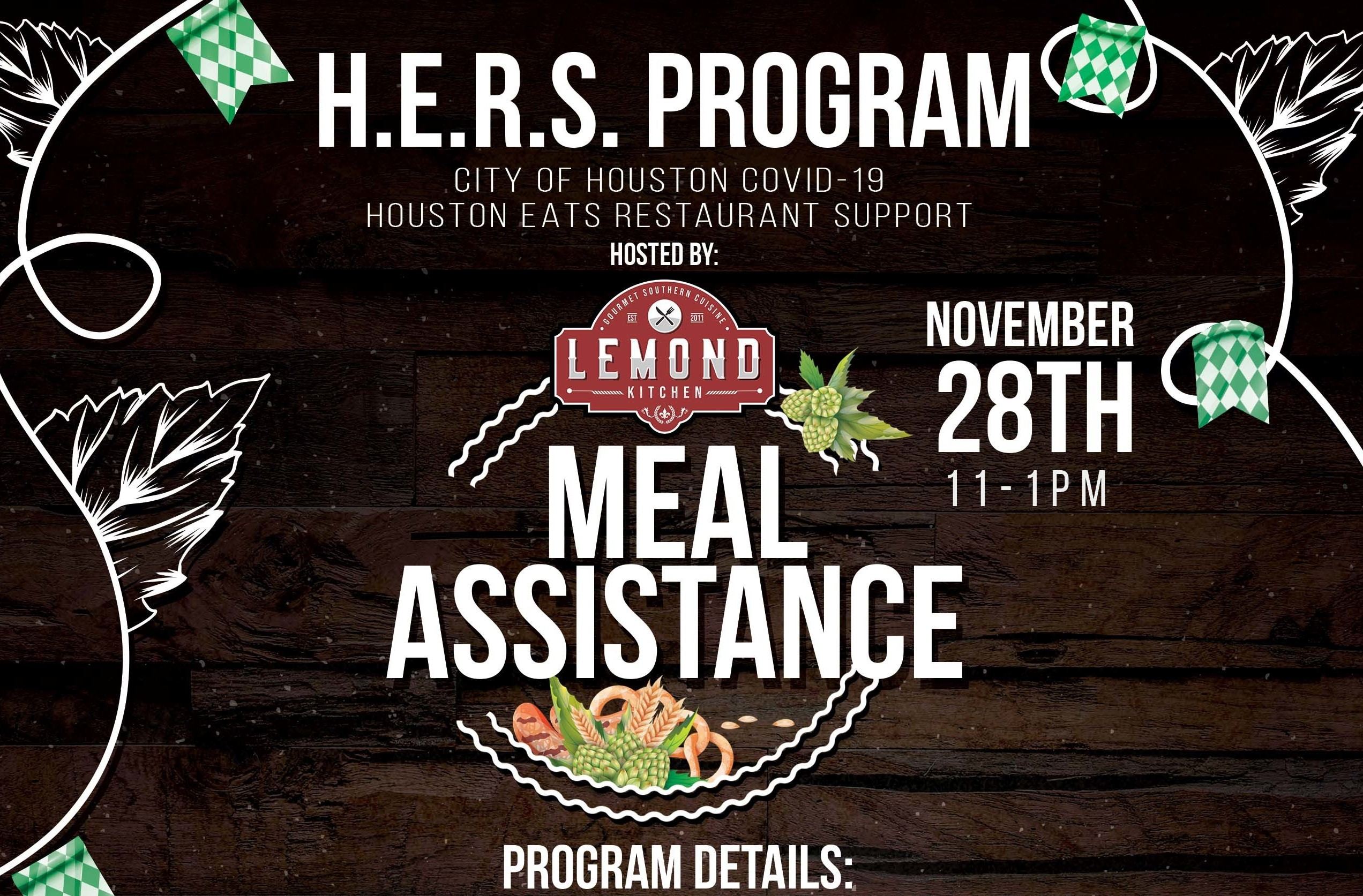 Lemond Kitchen hosts H.E.R.S. Program meal assistance this Saturday